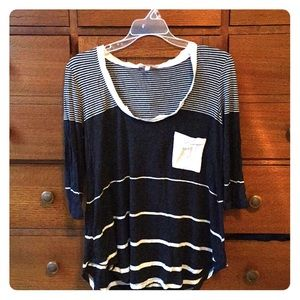 SOFTEST EVER striped top from Anthropologie